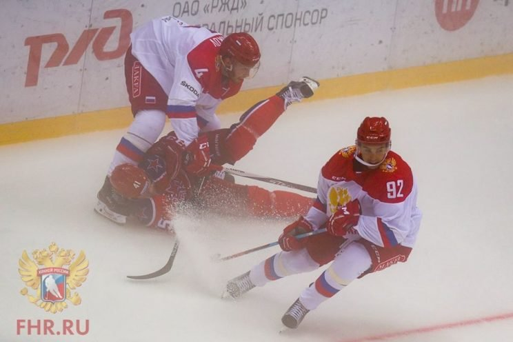 Photo of Russian Olympic Team against CSKA Moscow.