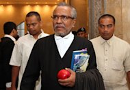 Lead prosecutor Tan Sri Muhd Shafee Abdullah told the court that the prosecution wished to reply to matters raised but Chief Justice Tun Arifin Zakaria was unreceptive. — Picture by Yusof Mat Isa