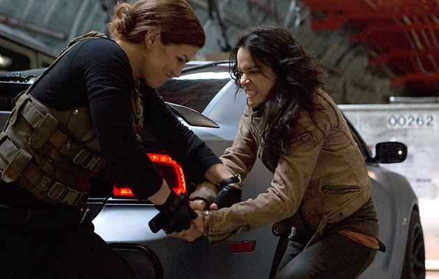 Gina Carano and Michelle Rodrigues in 'Fast & Furious 6'