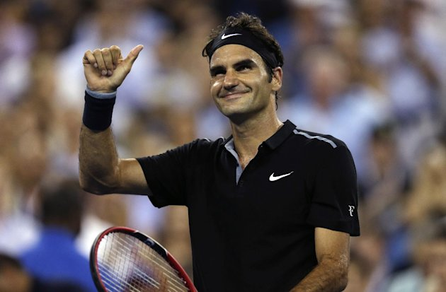 Roger Federer was imperious in a 6-4, 6-3, 6-2 victory over Roberto Bautista Agut of Spain Tuesday night. (AP Photo/Charles Krupa)