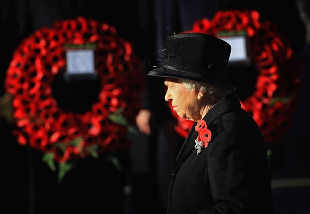 Queen Elizabeth II attends the Remembrance Day Ceremony on November 13, 2011 in London, United Kingdom. (Photo by Chris Jackson/Getty Images)