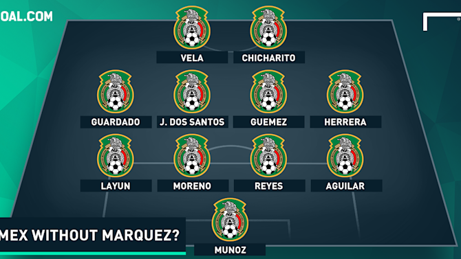 How will Mexico line up against the United States?