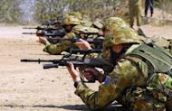 Photo illustration shows Australian soliders on a rifle range. Australian Defence Minister Stephen Smith was Friday forced to defend deep spending cuts after the announcement was called the worst day for national security since the Vietnam war ended in 1975