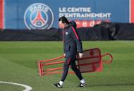 Football Soccer - Paris St Germain v FC Barcelona - UEFA Champions League - Ooredoo training camp, Saint-Germain-en-Laye near Paris, France - 13/2/17. Paris St Germain coach Unai Emery attends training session. REUTERS/Christian Hartmann