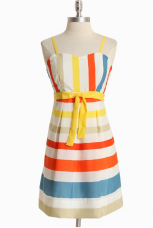 Coney Island Carnival Striped Dress