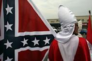 Photo illustration of members of the Fraternal White Knights of the Ku Klux Klan in the United States. The US state of Georgia turned down an offer by members of the Ku Klux Klan to adopt a stretch of highway to keep it tidy, saying the sight of the group's name on a sign would be distressing