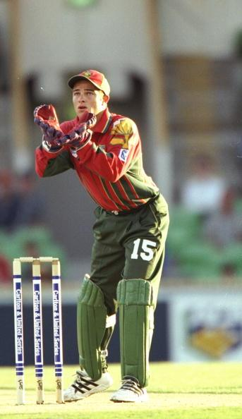 16 Jan 1998:  Mark Boucher of South Africa in action during a One Day match against New Zealand in Perth, Australia. \ Mandatory Credit: Ben  Radford/Allsport