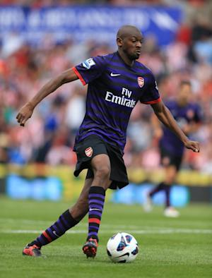 Abou Diaby has a 'small chance' of playing for Arsenal on Saturday