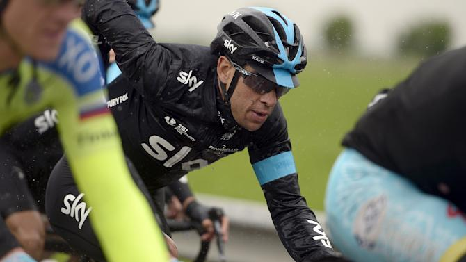 Porte of Australia competes during the 13th stage of the 98th Giro d'Italia