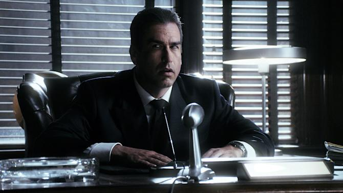 """This publicity image released by Comedy Central shows Rob Riggle as J. Edgar Hoover in a scene from """"Drunk History,"""" airing Tuesdays at 10 p.m. on Comedy Central. (AP Photo/Comedy Central)"""