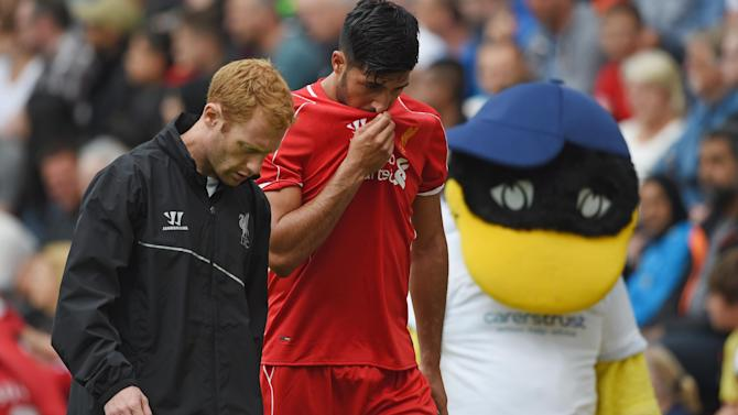 Premier League - Emre Can injury scare as Liverpool beat Preston