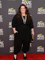 Melissa McCarthy arrives at the 2013 MTV Movie Awards at Sony Pictures Studios in Culver City, Calif., on April 14, 2013 -- Getty Images