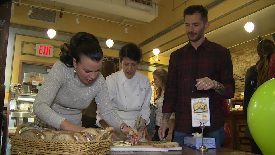 Younger Star Debi Mazar and her Celebrity Chef Husband, Partner with Amy's Bread to help Food Bank of New York
