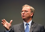 "Google's Chairman Eric Schmidt, pictured September 25, 2012, plans to sell 3.2 million ""A"" shares, currently worth $2.5 billion, over the next year, Google said in a filing with the Securities and Exchange Commission."