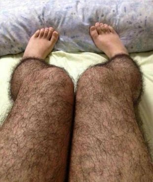 Hairy tights to deflect male attention