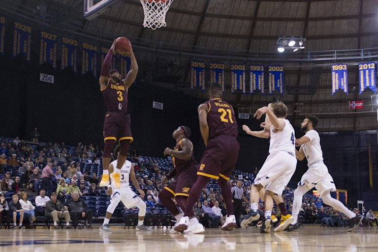 Central Michigan guard Marcus Keene torched Montana State for 44 points in his most recent game. (AP)