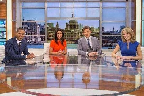 The very formal 'Good Morning Britain' studio.