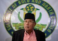 "Jamalul Kiram III, the 74-year-old ""Sultan of Sulu"", attends a press conference in Manila, February 26, 2013. Jamalul Kiram III emerged from political obscurity this month after a few dozen of his armed followers sailed to neighbouring Malaysia to stake an ancestral territorial claim"
