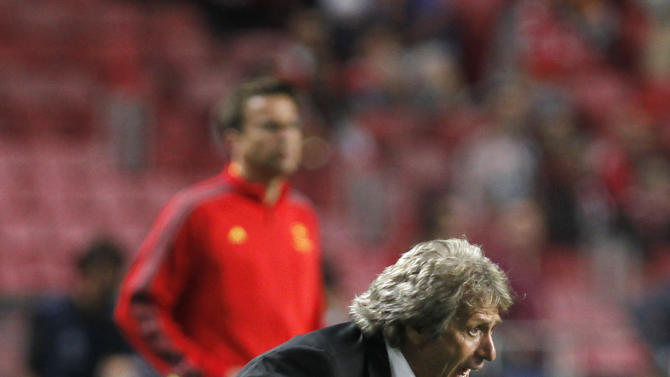 Benfica's coach Jorge Jesus reacts during the Champions League group C soccer match between Benfica and Anderlecht Tuesday, Sept. 17, 2013, at Benfica's Luz stadium in Lisbon