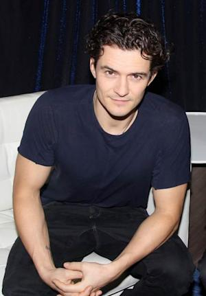 Orlando Bloom promotes 'Romeo and Juliet' on the set of 'Show People' at The Broadway.com Times Square Studios on October 10, 2013 in New York City -- Getty Images
