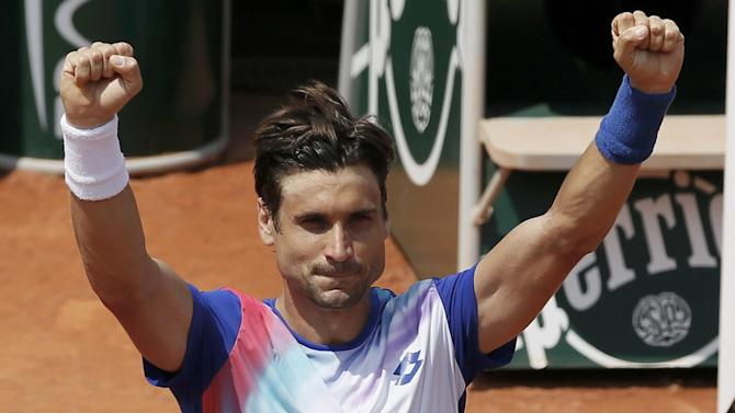 French Open - Ferrer sets up last-eight clash with Nadal