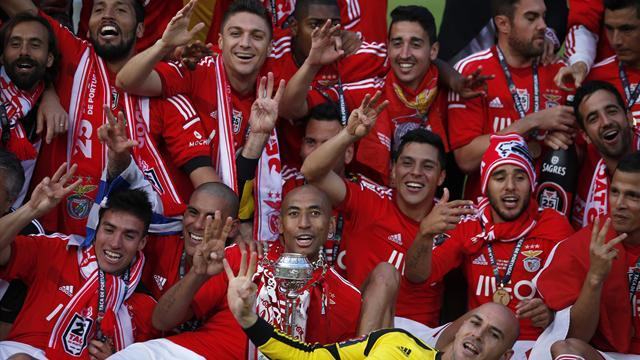 European Football - Benfica win Portuguese Cup to complete domestic treble