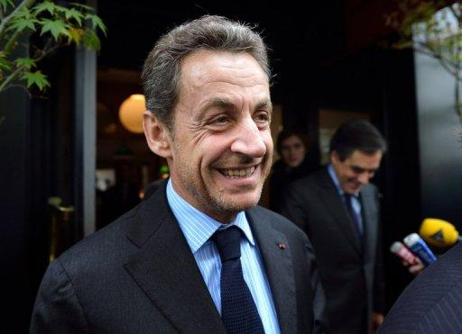 Former French president Nicolas Sarkozy, pictured in October 2012, will appear before investigating magistrates on Thursday in a probe into illegal campaign financing, newspaper Le Figaro reported.