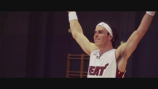 Gareth Bale excels at the NBA half-court challenge