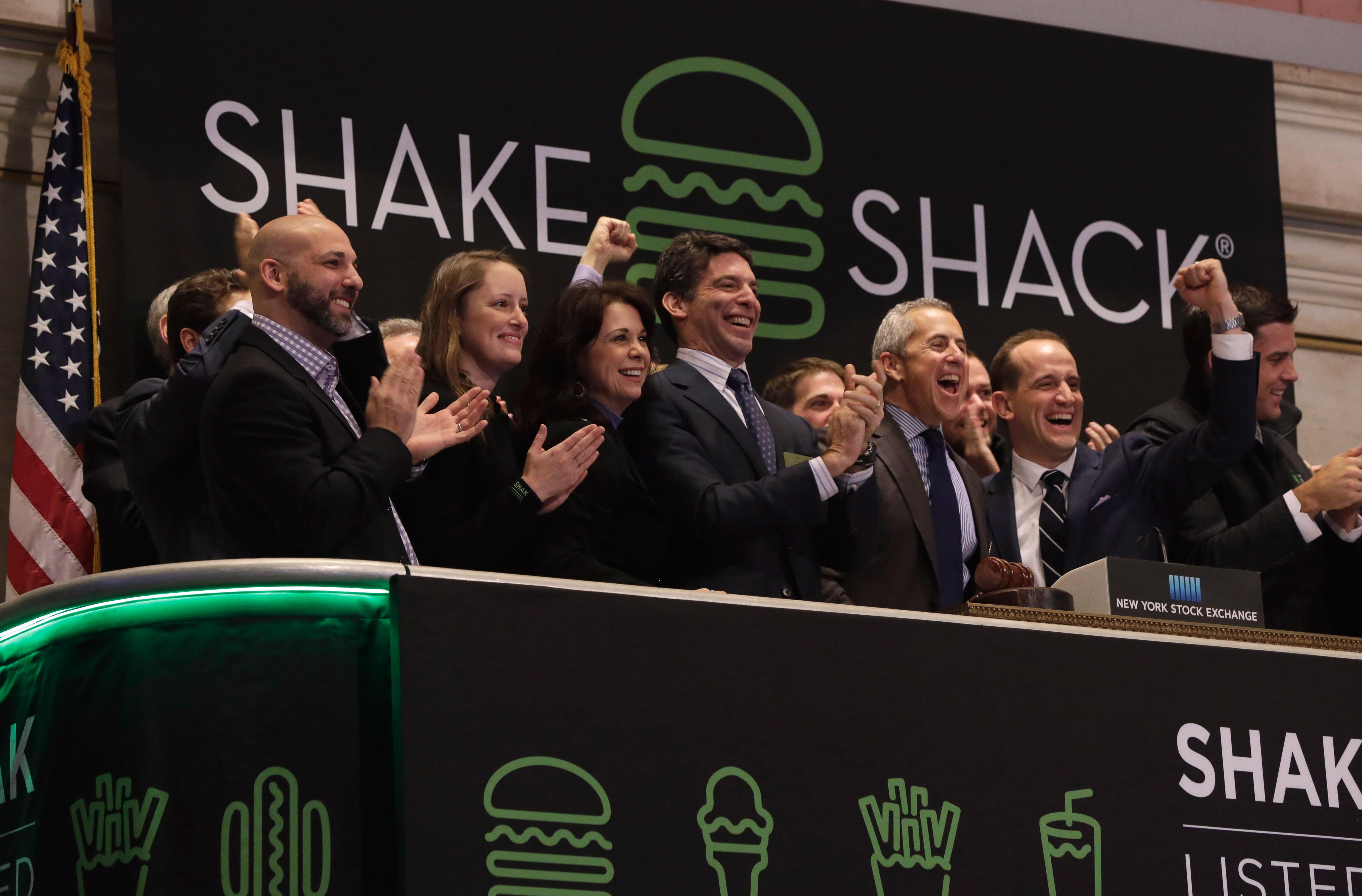 Shake Shack shares more than double in stock market debut
