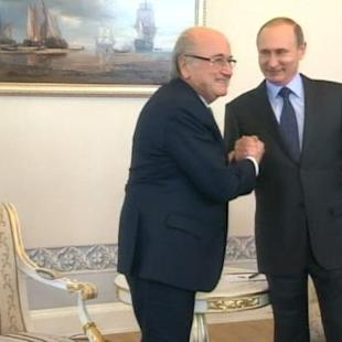 Blatter gives Putin assurances over Russia 2018