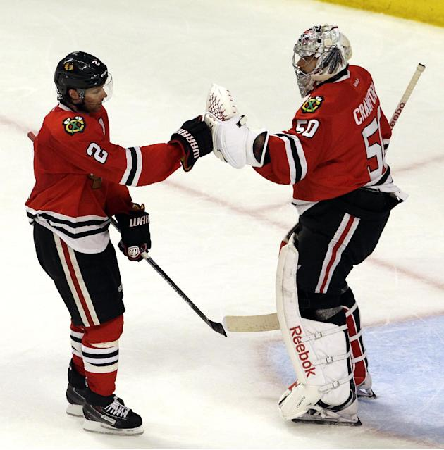 Embarrassed early, Blackhawks hit their stride just in time
