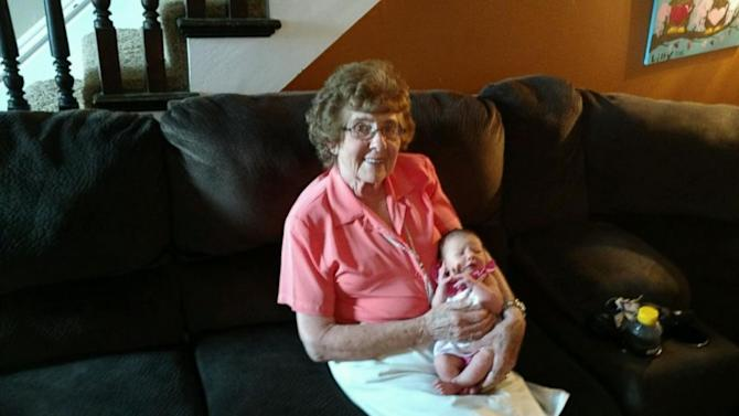 86-Year-Old Grandma Meets Her 86th Great-Grandchild