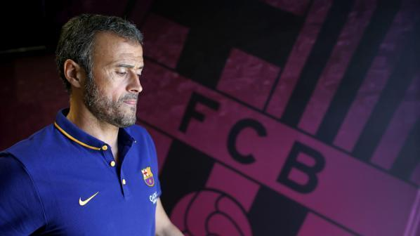 Barcelona: FC Barcelona's Spanish coach Luis Enrique prior to a press conference held after a team's training sesion at Joan Gamper Sports City in Barcelona, northeastern Spain, 04 August 2015. FC Barcelona will face AS Roma in a Joan Gamper Trophy match the upcoming 05 August. (IANS/EFE/Alejandro Garcia)