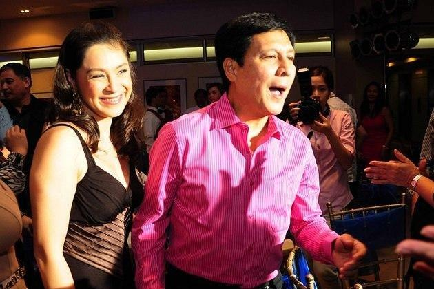 The surprise party for Tirso Cruz III (seen here with niece Sheryl Cruz) was organized by his wife Lynn   Ynchausti and their children TJ, Djanin, and Bodie.