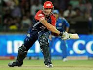 Kevin Pietersen during a IPL Twenty20 cricket match in New Delhi on April 27. Pietersen flew home on Wednesday after a highly successful stint in the Indian Premier League as Australia captain Michael Clarke made his debut in the Twenty20 tournament