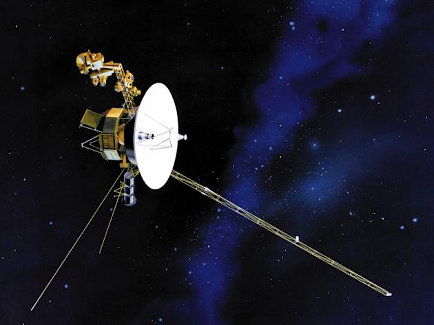 This undated file artist's rendering shows one of NASA's twin Voyager spacecraft. NASA says the long-running Voyager 1 spacecraft hurtling toward the edge of the solar system has reached another milestone. Since 2004, the unmanned probe has been exploring a region of space where the solar wind slows abruptly and crashes into the thin gas between stars. NASA said Monday that recent readings show the solar wind has slowed to zero, meaning the spacecraft is getting ever closer to the solar system's edge. (AP Photo/NASA, File)