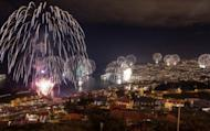 Fireworks light up the sky above Funchal Bay, Madeira Island, to celebrate the arrival of the New Year on January 1, 2013. World cities from Sydney to Dubai rang in the New Year with a spectacular global wave of firework displays.