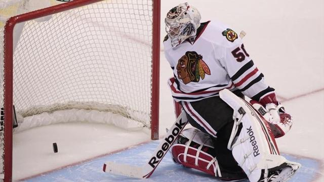 NHL - Blackhawks lose Crawford in thumping win