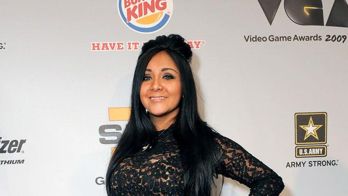 Nicole 'Snooki' Polizzi arrives at Spike TV's 7th Annual Video Game Awards at the Nokia Event Deck at LA Live on December 12, 2009 in Los Angeles, California.