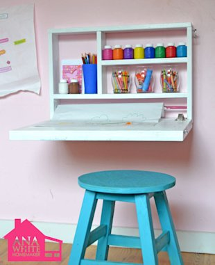Create a Fold-Down Art Desk