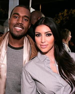 Kanye West and Kim Kardashian attend the grand opening of Intermix on September 25, 2007 in Los Angeles -- Getty Images