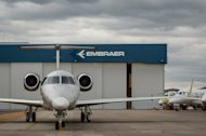 An executive jet is seen at Brazilian aircraft manufacturar Embraer's factory in Sao Jose dos Campos, about 100km east of Sao Paulo, Brazil on October 17, 2012. Top companies from emerging markets are riding the rapid growth of their regions and will shape the global economy over the next decade, a study said on Tuesday