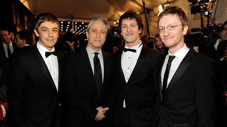 1st Annual Comedy Awards 2011 Jon Stewart Andy Samberg