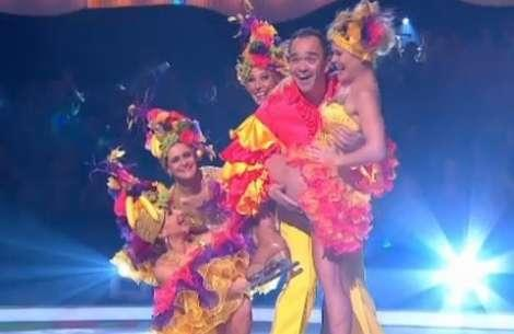 Todd Carty channels Dave Myers for his first appearance on Dancing on Ice 2014