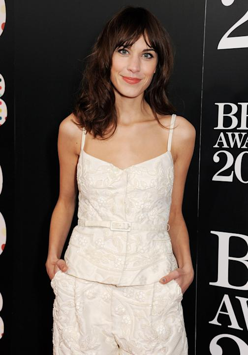 BRIT Awards 2013: Alexa Chung was best dressed on the red carpet in a Valentino playsuit ©Getty