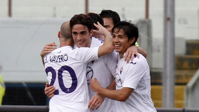 Serie A - Matri makes dream debut as Fiorentina crush Catania