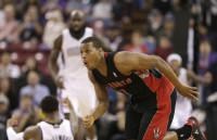 Kyle Lowry Couldn't Believe Ref's Offensive Foul Call So He Ran Away (VIDEO)