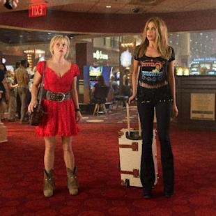 """In this image released by Warner Bros. Pictures, Reese Witherspoon, left, and Sofia Vergara appear in a scene from """"Hot Pursuit."""" (Sam Emerson/Warner Bros. Pictures via AP)"""