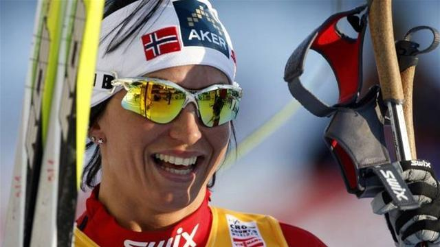 Cross-Country Skiing - Bjoergen wins third stage to pull clear in Falun