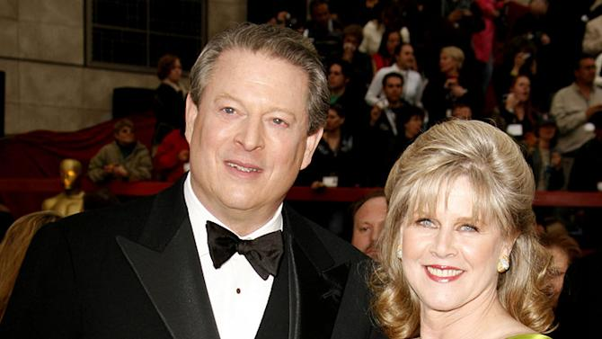 "Al Gore, nominee Best Documentary Feature for ""An Inconvenient Truth"" and Tipper Gore at The 79th Annual Academy Awards."